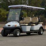 6座红色高尔夫球车,观光车草坪车,电动四轮巡逻车