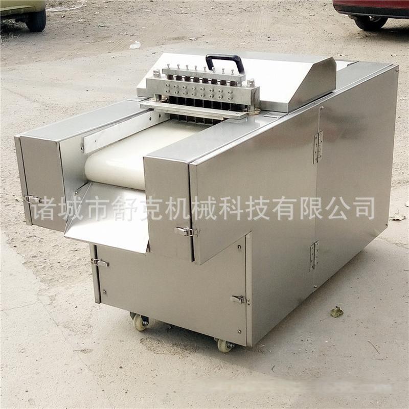 切鲜活禽类成块机 全自动剁鸡块机 带骨机切鸡块切丁机新供应