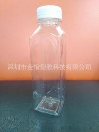 厂家供应PET400ml凉茶瓶400ml四方果汁瓶400ml果酱瓶食品级PET瓶