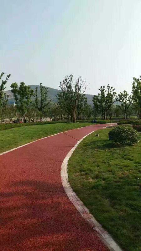 透水地坪胶结料代理加盟上海桓石彩色 透水地坪透水混凝土吸附地表水 促进水循环