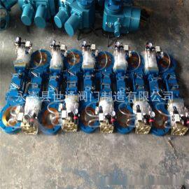气动刀型闸阀 带三联件 气动插板阀 造纸,洗煤