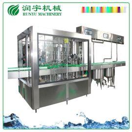 高精度玻璃瓶保健品酵素冲洗灌装封口三合一机械