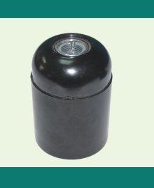 E27电木光身自锁灯头灯座(黑色)
