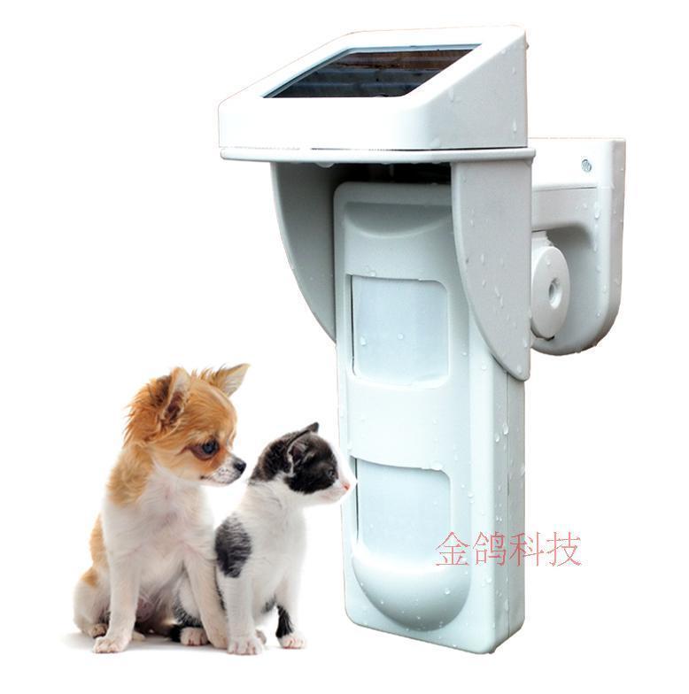 無線室外太陽能防寵物紅外探測器