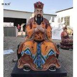 武成王塑像黄飞虎神像炳灵公塑像 东岳大帝泰山爷奶奶