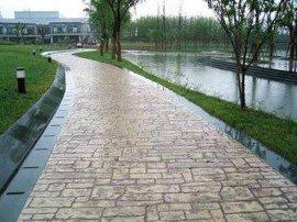 南京马鞍山彩色艺术压花地坪--压模地坪