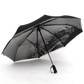 商务三折伞 全自动折叠伞 两用晴雨伞