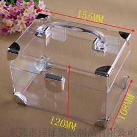 专业生产 **次 高透明硬质 包护角手提塑料盒SH6423