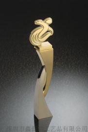 锌合金奖杯 镀金工艺品摆件赛事奖杯
