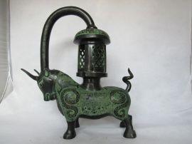 铜牛灯 犀牛灯 仿古灯具 广发青铜器家居装饰工艺礼品