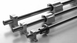 碳钢镀铬直线导轨SBR10-50光轴+铝托圆柱滑轨光杆硬轴轴承钢滑块