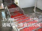 蔬菜氣泡清洗機 辣椒雙層網帶清洗機