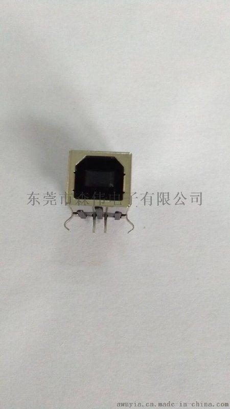 森伟01BR-0101 黑色 USB BF 90度插板连接器