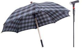国内外  可分离式LED多功能拐杖伞 老人伞拐杖 防雨伞