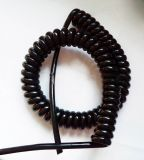 鋁合金升降設備2芯4芯0.5平方螺旋電纜線伸縮線5芯6芯24芯20芯彈簧電線【PU聚氨酯護套電纜線】