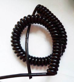 铝合金升降设备2芯4芯0.5平方螺旋电缆线伸缩线5芯6芯24芯20芯弹簧电线【PU聚氨酯护套电缆线】
