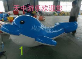 天中游乐水上充气海豚