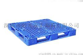 供应郑州大型货架专用田字形塑胶卡板饮料运输塑胶托盘塑料栈板