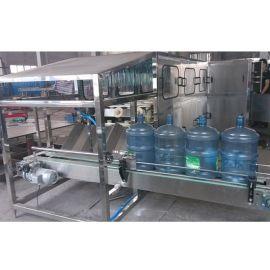 全自动桶装水灌装机 1500桶五加仑桶装水设备 大桶水生产线