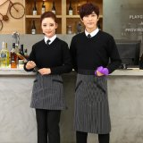 咖啡西餐廳女服務員工作服長袖制服毛衣餐飲奶茶蛋糕快餐店秋裝
