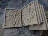 芭蕉叶浮雕挂件 仿砂岩浮雕花件 中式背景墙挂件