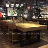 西安咖啡书店实木休闲沙发桌椅设计定做厂家