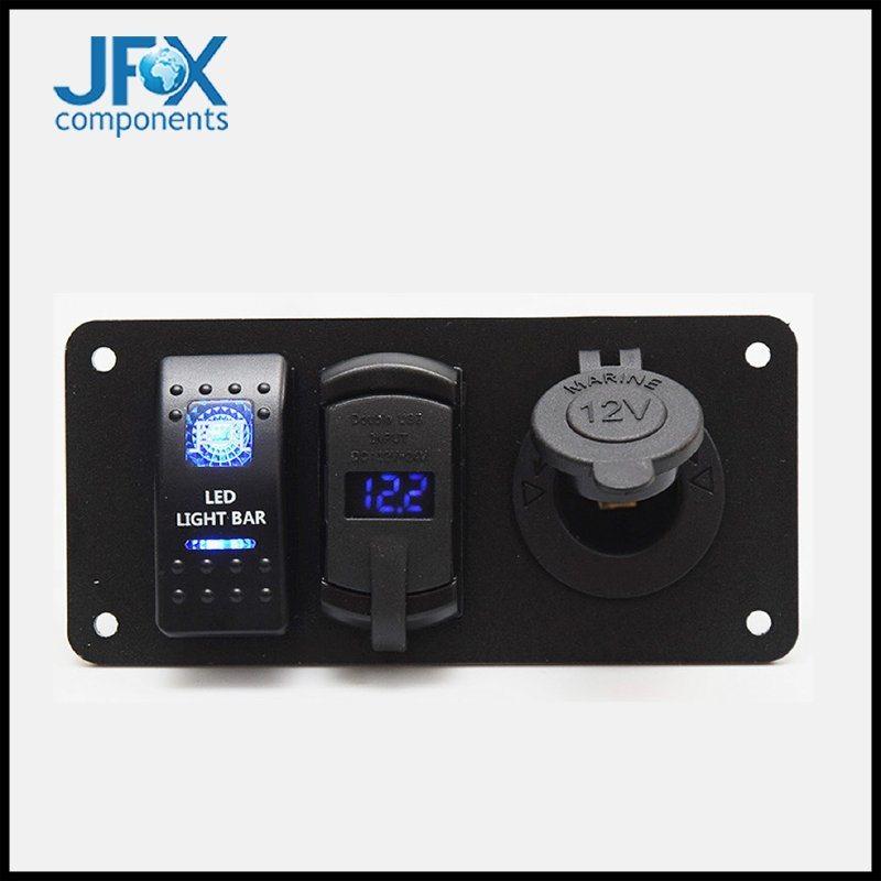 usb点烟器座数显电压表汽车房车6PIN面板开关