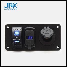 usb點煙器座數顯電壓表汽車房車6PIN面板開關