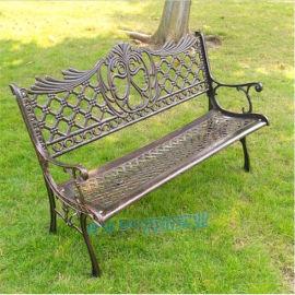 户外公园椅耐磨耐高温花园椅欧式小区广场椅铸铝长椅