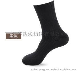 黑色纯棉商务男袜
