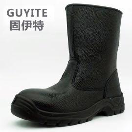新疆男防砸防刺油田耐磨廠家直銷勞保靴耐油鋼包頭高筒