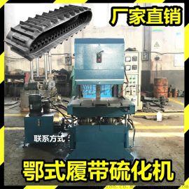 鄂式100T长条平板硫化机手动推拉模具