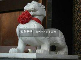 石雕貔貅动物雕刻辟邪挡煞镇宅建筑入口处装饰九龙星貔貅雕刻团队专业雕刻