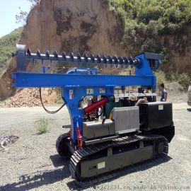 360°可旋转3米液压锤打桩机 柴油液压光伏打桩机