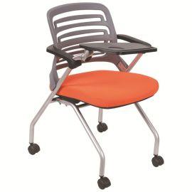 塑背培训椅 带写字板椅子 会议多功能椅 折叠椅