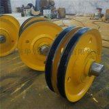 吊环型滑车轮 **32T起重滑轮 省力动滑轮组加厚