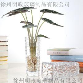 水培綠蘿花瓶簡約創意玻璃水培植物花盆透明 觀音竹插花瓶