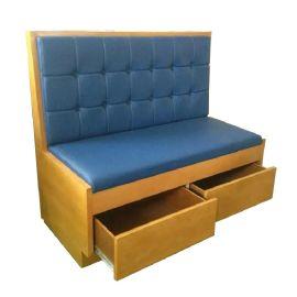 新款港式茶餐厅卡座沙发,储物柜沙发卡座,布艺沙发翻新