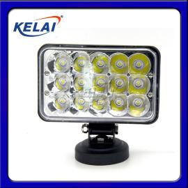 KLL16515ZFB LED汽车灯5寸方45W反光杯 KELAI 改装灯汽车大灯加装灯