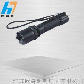強光手電充電防水led巡檢電筒帶指南針ZJW7621