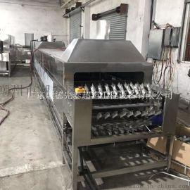 佛山铝壳除油 连续式电容外壳超声波喷淋清洗机