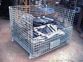 【周轉鐵筐】零配件車間周轉鍍鋅鐵筐,折疊鐵籠