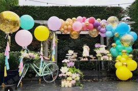 昆明花語花香氣球寶寶宴氣球生日派對