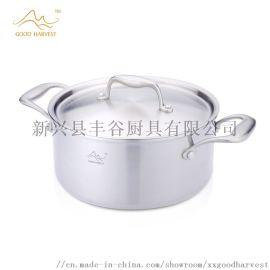 丰谷厨具伯爵系列304三层不锈钢汤锅20cm