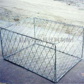 生产带隔板生态格宾石笼网箱 高抗腐蚀镀锌石笼网垫