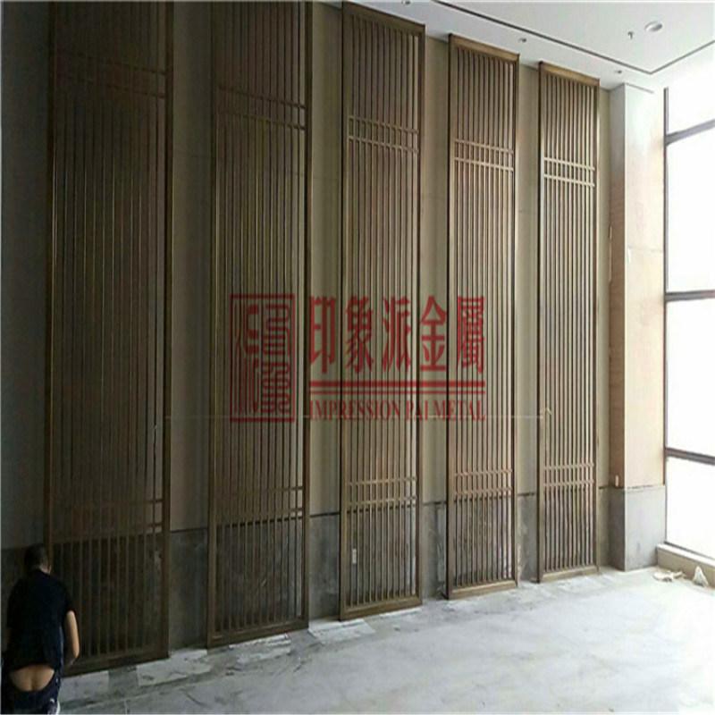 佛山不锈钢屏风厂家 来图定制中欧式不锈钢隔断花格