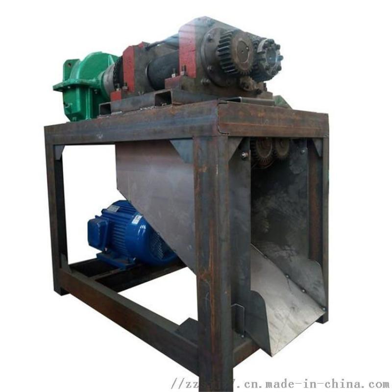 有机肥对辊挤压造粒机 无需烘干干粉挤压造粒机