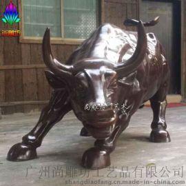 拓荒牛雕塑_玻璃钢动物雕塑_园林景观玻璃钢工艺品