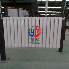 钢制立式双柱家用集中供暖暖气片 椭圆管钢二柱散热器