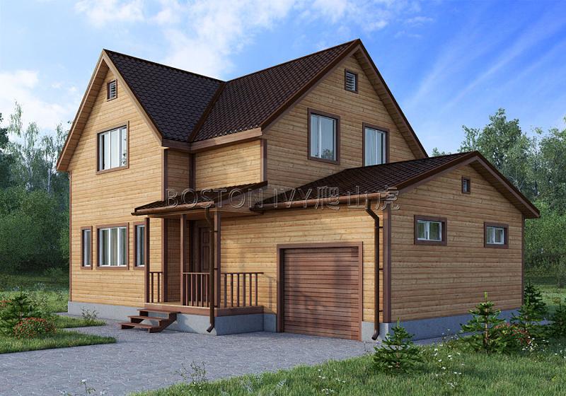 二层私人别墅屋檐雨水槽外墙雨水管金属落水系统